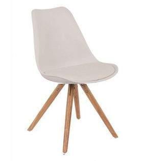 silla Tower con cojin  4 patas madera