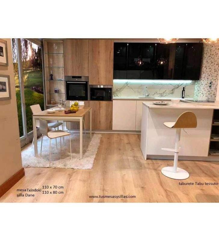 cette cuisine extensible Punto Ondarreta 100x100 carrés