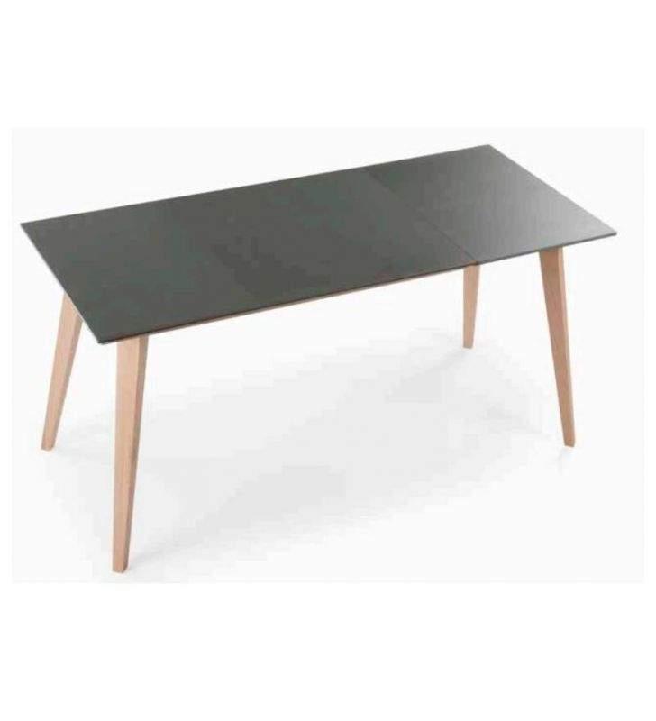 Table à rallonge avec pieds inclinés Style Lira Nordic