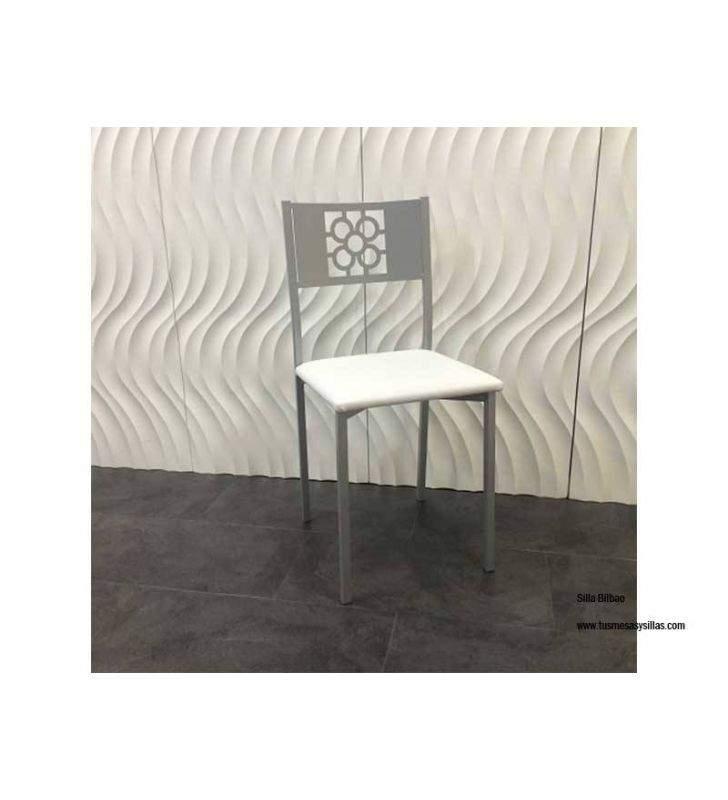 Conjunto mesa y sillas Flora cristal y Bilbao
