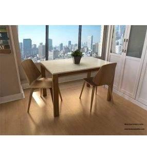Lauri table extensible pieds en bois sur mesure