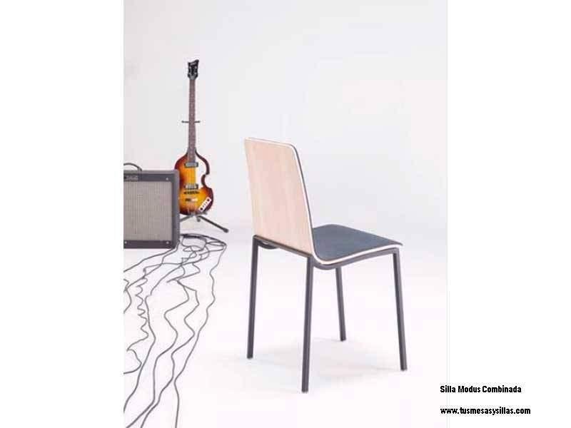 Silla Modus asiento madera,tapizado o combi