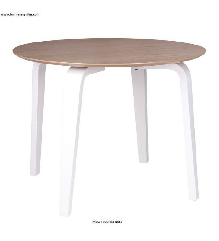 Nora style nordique table ronde pas cher en 100 diamètre