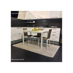 Table de cuisine moderne fixe ou avec 2 extensions
