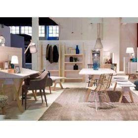 Muebles estilo nordico escandinavo Stick en blanco y madera