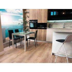 Tables de cuisine avec comptoirs en verre blanc