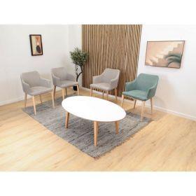 Table basse pour la salle à manger, ronde, surélevée