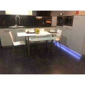 mesas de cocina con cajón y dos extensibles laterales modernas