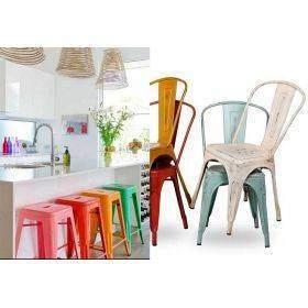 Chaises, fauteuil Tolix et Tower