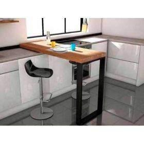 Mesas altas de cocina comedor o mostrador con taburetes tipo barra
