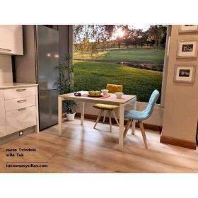 Table cuisine Txindoki fixe et extesible de salle à manger 100x70, 120x80,distributeur ondarreta