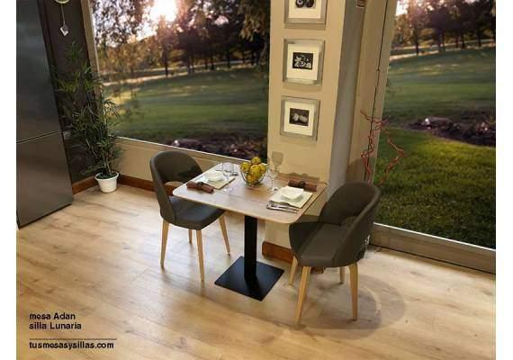 Mesas con pie central