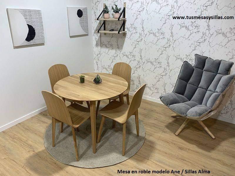 Ane Mesa en madera maciza natural