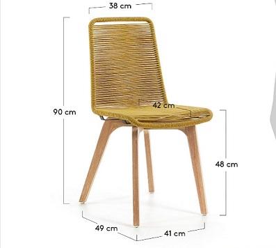 medidas silla Glendon