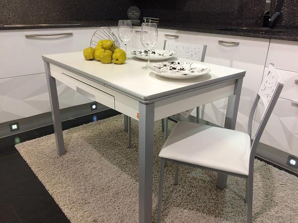 mesa cocina pequeña barata con cajón