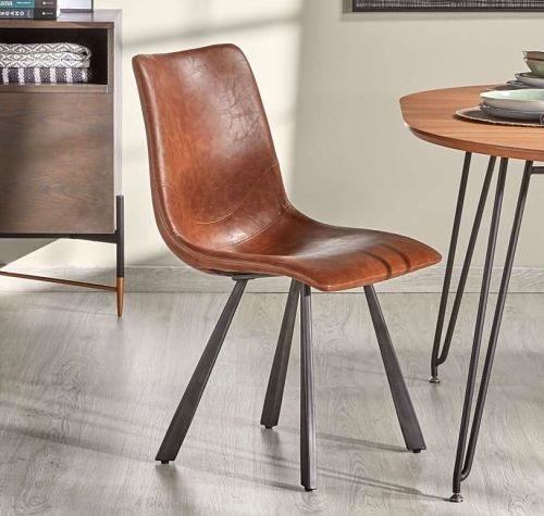silla-tapizada-marron-cuero
