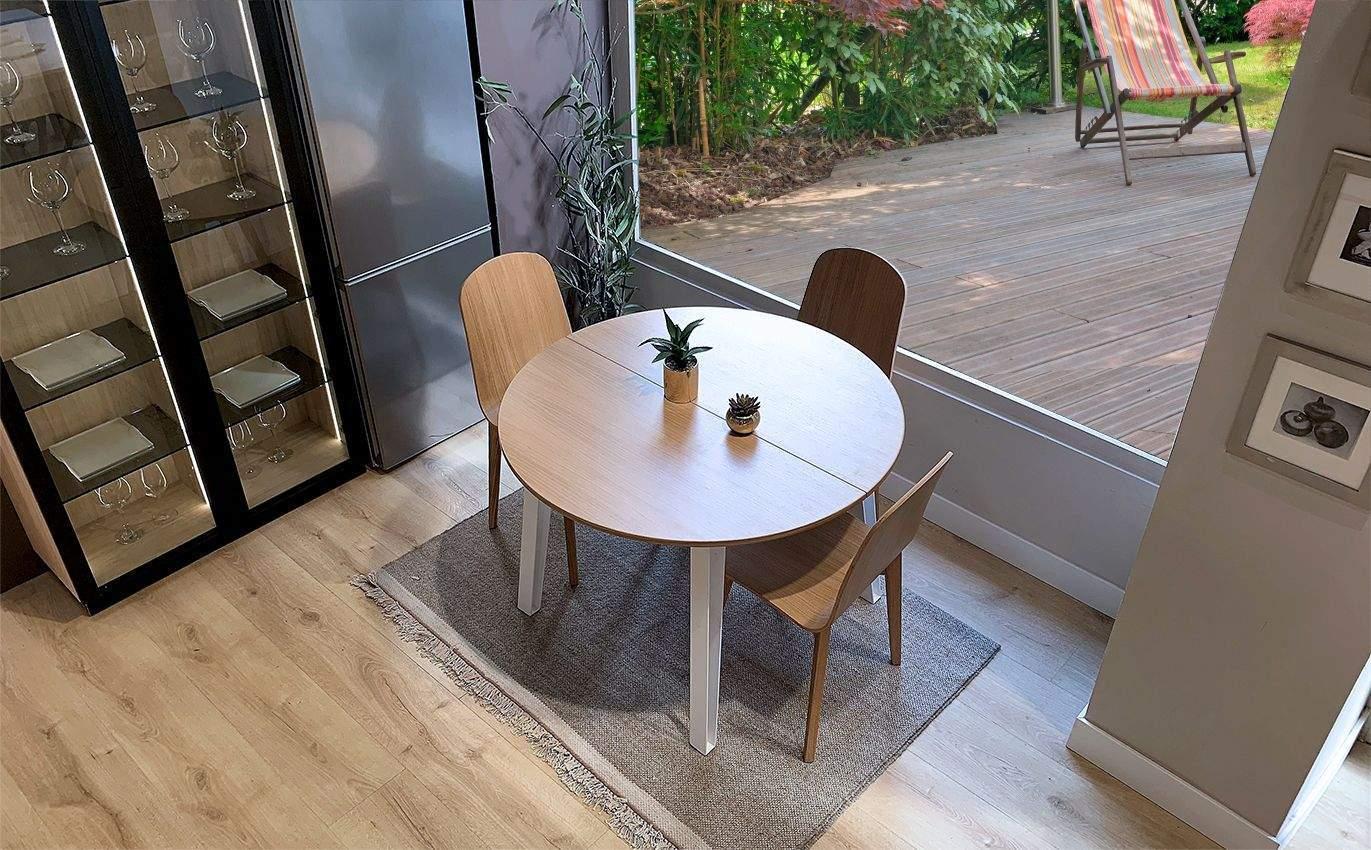 mesas extensibles con patas metálicas